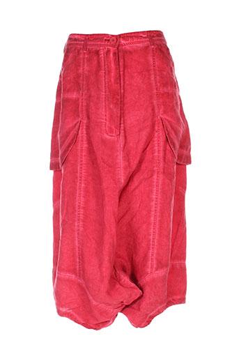 black label pantalons femme de couleur rouge
