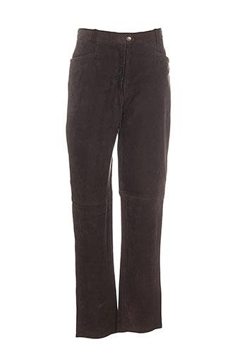 club interchasse pantalons femme de couleur marron