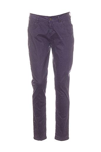 et compagnie pantalons femme de couleur violet