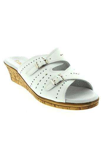 clemence sandales et nu et pieds femme de couleur blanc