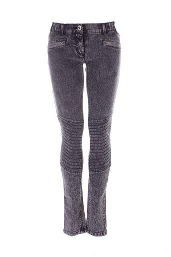 beckaro pantalons fille de couleur gris