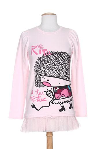 tuc tuc tuniques fille de couleur rose