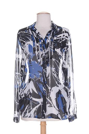 lebek chemises femme de couleur bleu