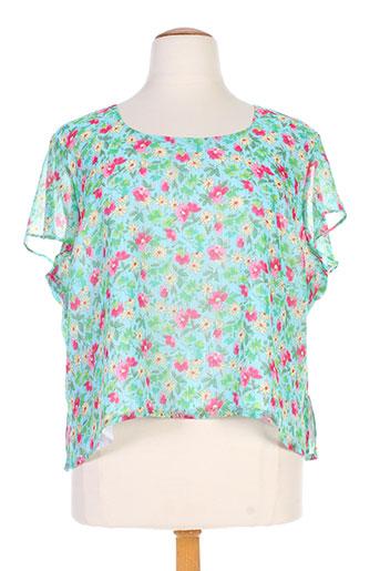 c.s creations chemises femme de couleur bleu