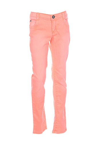 confetti pantalons et decontractes fille de couleur orange