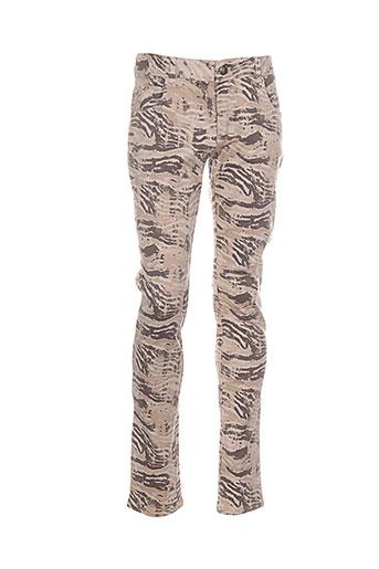 confetti pantalons et decontractes fille de couleur beige