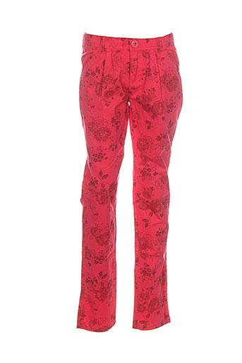 confetti pantalons et decontractes fille de couleur rouge