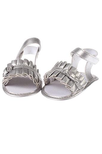 absorba sandales et nu et pieds fille de couleur gris