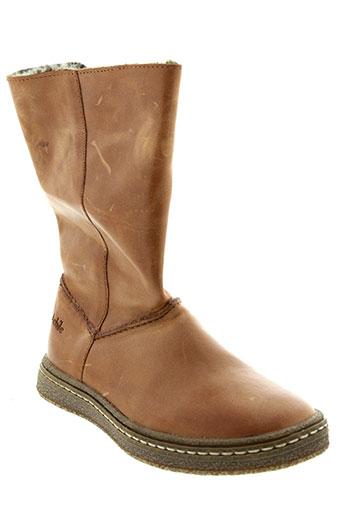 achile boots fille de couleur marron