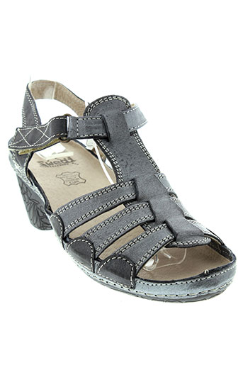 swedi sandales et nu et pieds femme de couleur gris