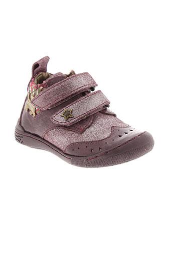 chipie bottillons fille de couleur violet