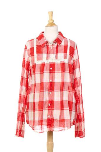 jean bourget chemises fille de couleur rouge