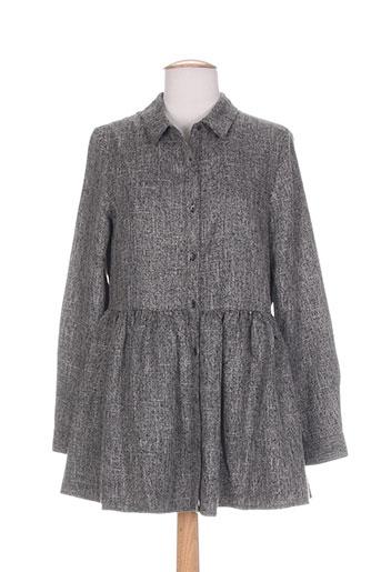 frnch tuniques femme de couleur gris
