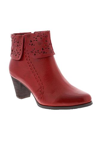 laura et vita boots femme de couleur rouge