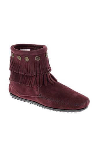 minnetonka boots femme de couleur rouge