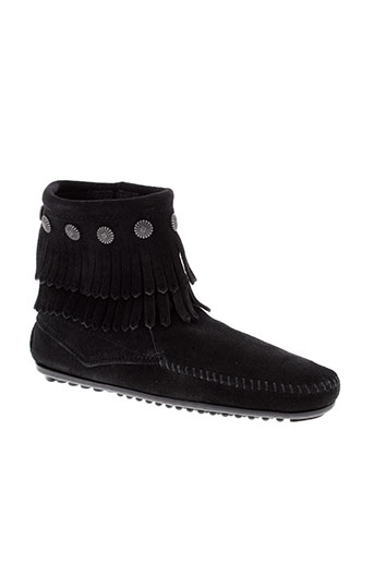 minnetonka boots femme de couleur noir