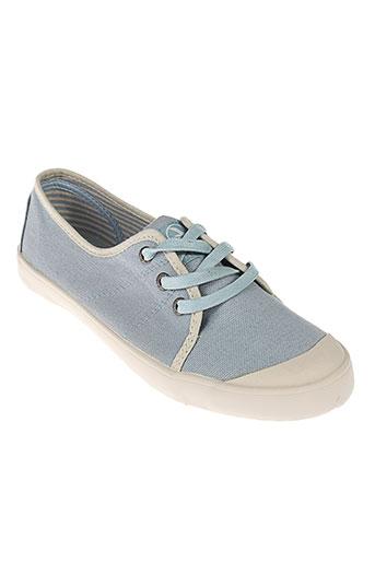 aigle chaussures femme de couleur bleu