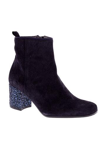kanna boots femme de couleur bleu