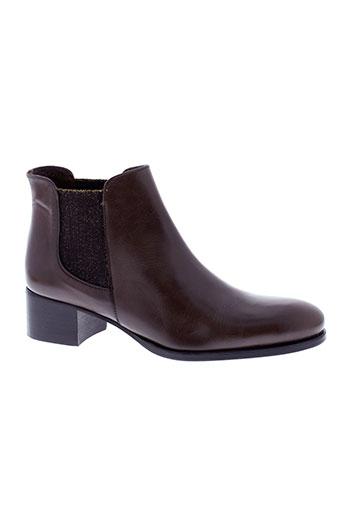 muratti boots femme de couleur marron