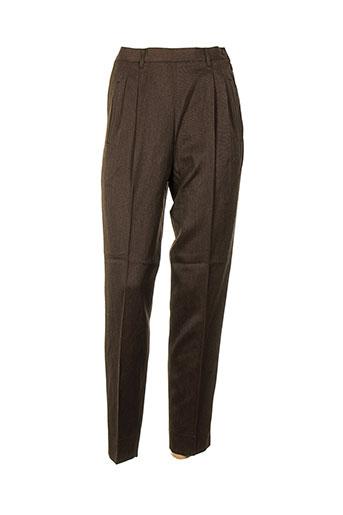 philippe adec pantalons femme de couleur marron
