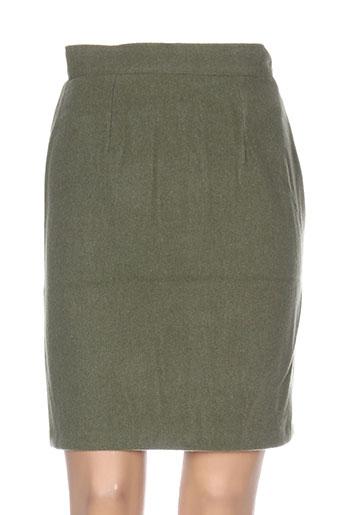Jupe mi-longue vert ANNE ELISABETH pour femme