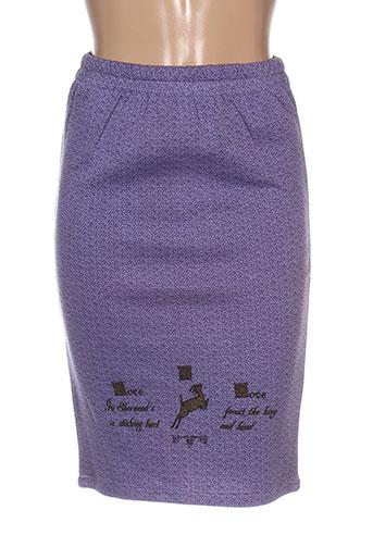 Jupe mi-longue violet COTE À COTE pour femme