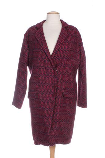 purple's manteaux femme de couleur rouge