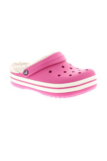 crocs chaussures fille de couleur rose