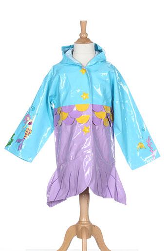kidorable manteaux fille de couleur bleu