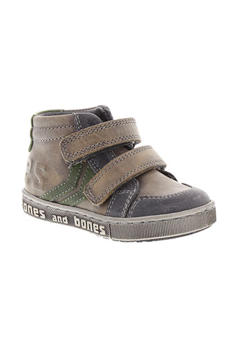 stones and bones chaussures garçon de couleur gris
