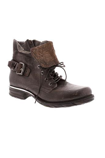 a et s et 98 boots femme de couleur marron
