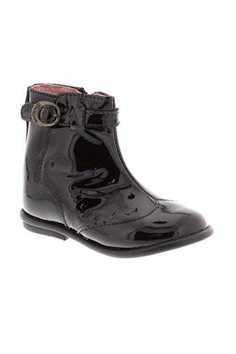 kickers boots fille de couleur noir