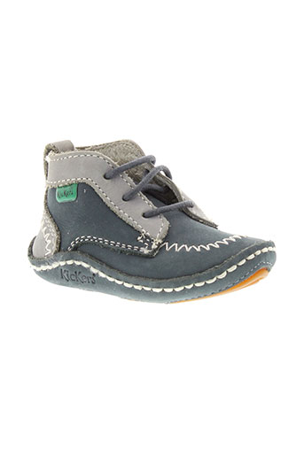 kickers chaussons garcon de couleur bleu
