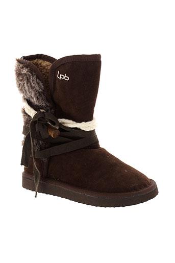 les et p et tites et bombes boots fille de couleur marron