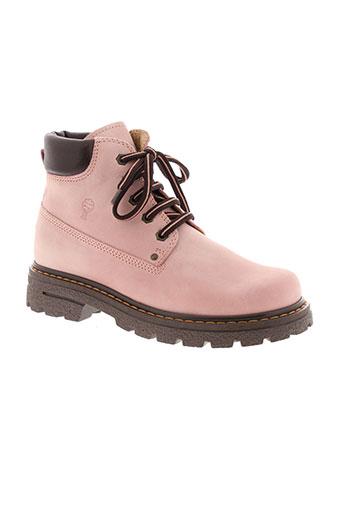romagnoli boots fille de couleur rose