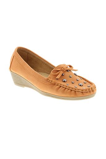 coco perla chaussures femme de couleur orange
