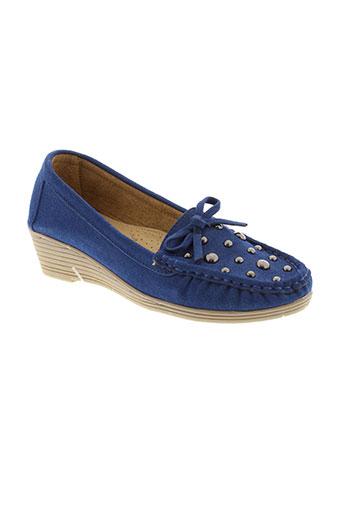 coco perla chaussures femme de couleur bleu