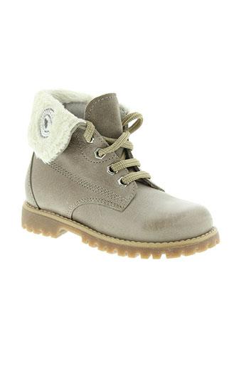 ciao et bimbi boots fille de couleur beige