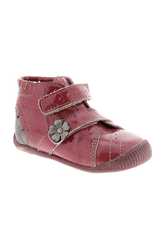 babybotte bottillons fille de couleur rouge