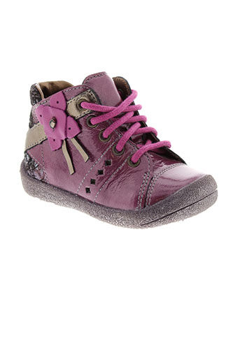 babybotte bottillons fille de couleur violet