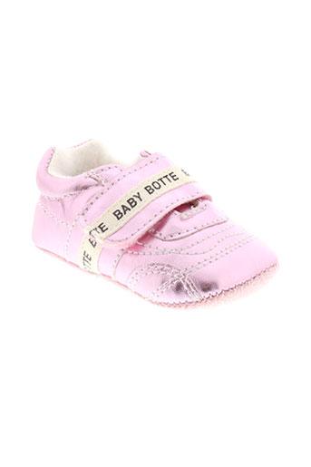 babybotte chaussons fille de couleur rose