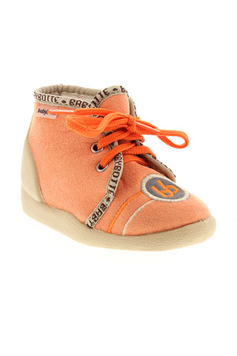 babybotte pantoufle enfant de couleur orange