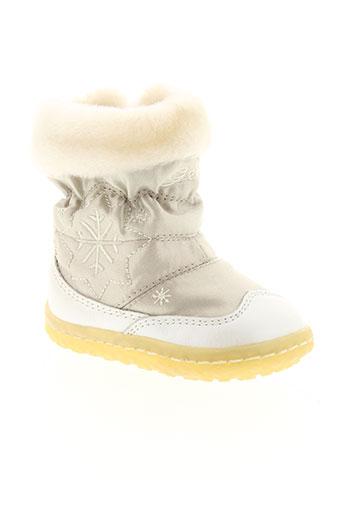 geox boots fille de couleur beige