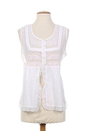 figure libre chemises femme de couleur blanc