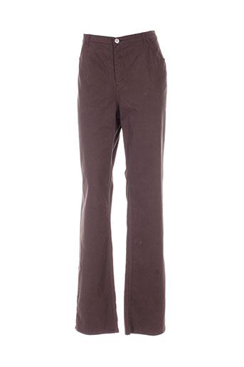 maurice abot pantalons femme de couleur marron