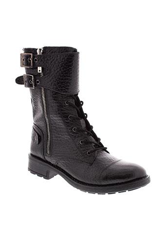 pepe et jeans bottines femme de couleur noir