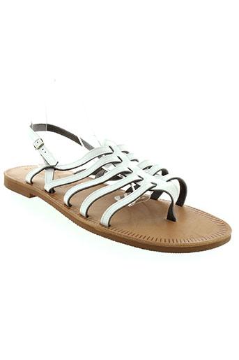 les spartiates phoceennes chaussures femme de couleur blanc