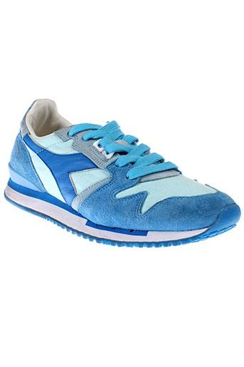 diadora heritage chaussures unisexe de couleur bleu