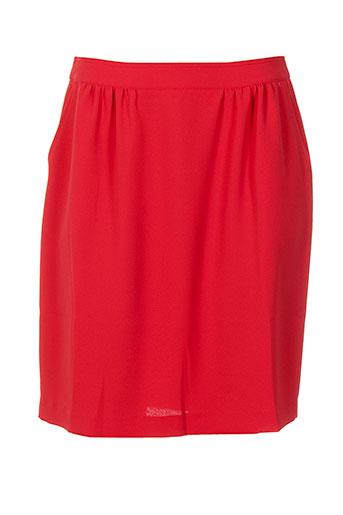 blanc nature jupes femme de couleur rouge