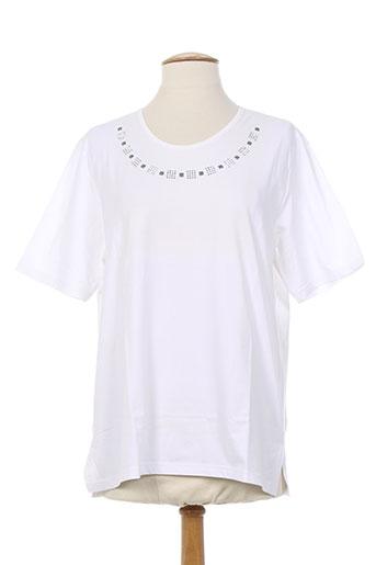 maille a. forcier t-shirts femme de couleur blanc